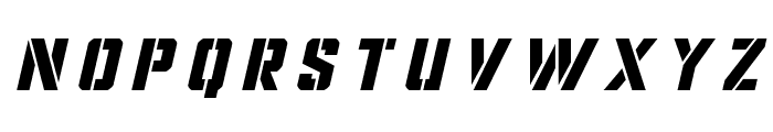 Covert Ops Title Italic Font UPPERCASE