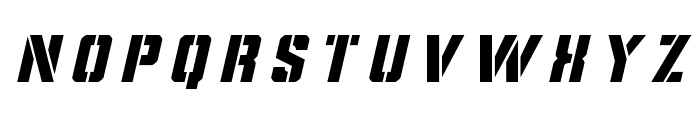Covert Ops Title Italic Font LOWERCASE