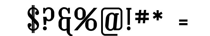 Covington Bold Font OTHER CHARS