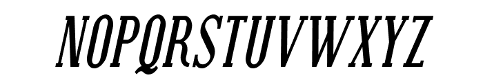 Covington Cond Bold Italic Font UPPERCASE