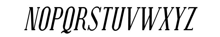Covington Cond Italic Font UPPERCASE