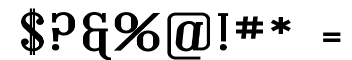 Covington Exp Bold Font OTHER CHARS