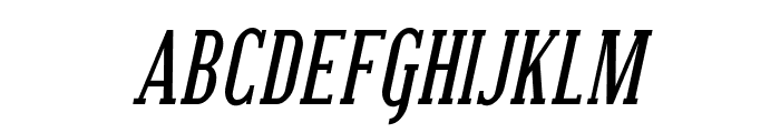Covington SC Cond Bold Italic Font LOWERCASE