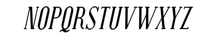 Covington SC Cond Italic Font UPPERCASE