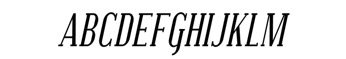 Covington SC Cond Italic Font LOWERCASE