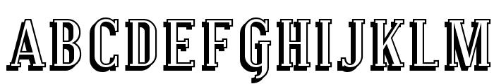 Covington SC Shadow Font LOWERCASE