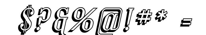 Covington Shadow Italic Font OTHER CHARS