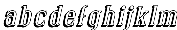 Covington Shadow Italic Font LOWERCASE