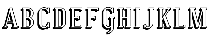 Covington Shadow Font UPPERCASE