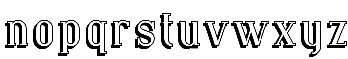 Covington Shadow Font LOWERCASE