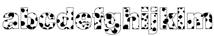 Cow-Spots Regular Font LOWERCASE