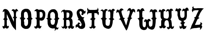 CowboyJunkDEMO Font UPPERCASE