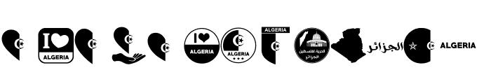 color Morocco Algeria Font UPPERCASE