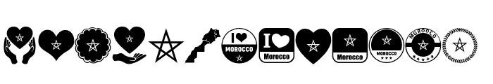 color Morocco Algeria Font LOWERCASE