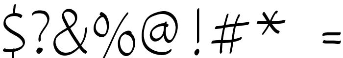 coloroyd bastard Light Font OTHER CHARS