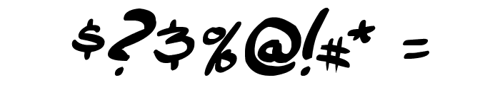 comic huslte Bold Italic Font OTHER CHARS