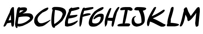comic huslte Bold Italic Font UPPERCASE