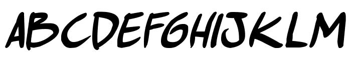 comic huslte Bold Italic Font LOWERCASE