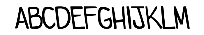 comicdouche Font LOWERCASE