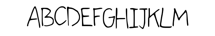 comingkiddo Font UPPERCASE