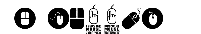 computer mouse Font OTHER CHARS