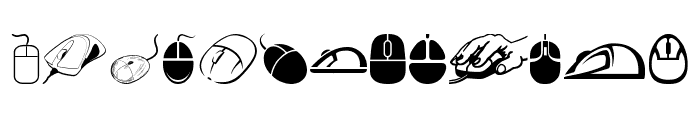 computer mouse Font LOWERCASE