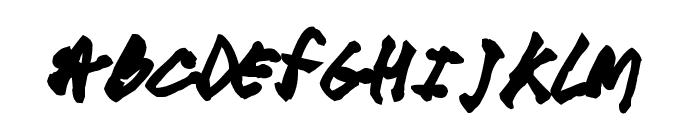 cool hand pk Font UPPERCASE