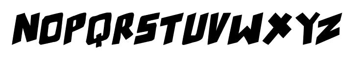 counter hit! Italic Font LOWERCASE