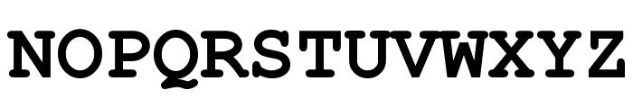 Courier New Bold Font UPPERCASE