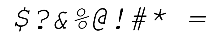Courier New Italic Font OTHER CHARS