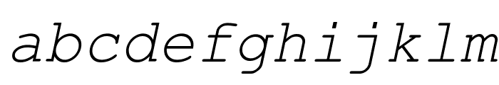 Courier New Italic Font LOWERCASE