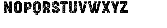 Cocogoose Narrows Condensed Letterpress Font UPPERCASE