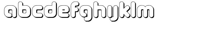 Coconut Shadow Font LOWERCASE