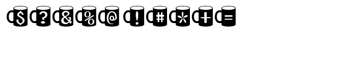 Coffee Mugs Regular Font OTHER CHARS