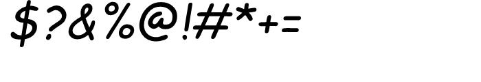 Comic Sans Italic Font OTHER CHARS