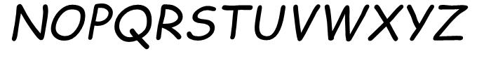 Comic Sans Italic Font UPPERCASE