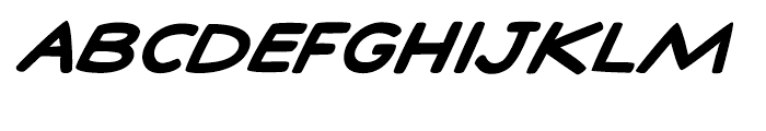 Comic Talk Bold Italic Font UPPERCASE