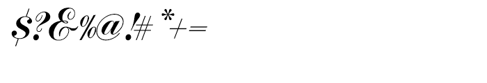 Commercial Script Regular Font OTHER CHARS