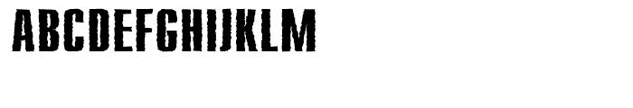 Compakt Rough Bold Font UPPERCASE
