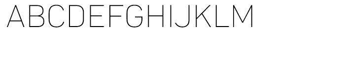 Compasse Thin Font UPPERCASE