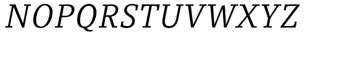 Compatil Letter Italic Font UPPERCASE