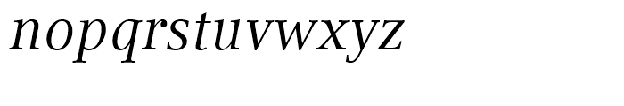 Compatil Text Italic Font LOWERCASE