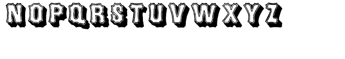 Concave Tuscan Shade Regular Font UPPERCASE