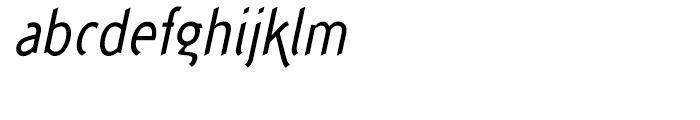 Concept Sans Condensed Regular Italic Font LOWERCASE