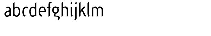 Concept Sans Condensed Regular Font LOWERCASE