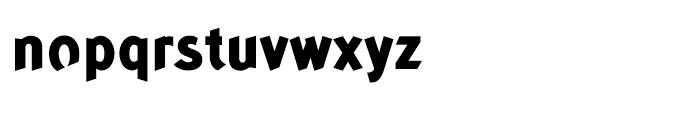 Concept Sans Extra Bold Font LOWERCASE