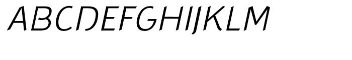 Concept Sans Light Italic Font UPPERCASE