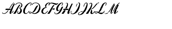 Concrete Stencilled Font UPPERCASE