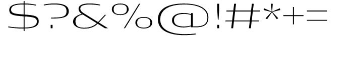 Condor Extended Extra Light Font OTHER CHARS