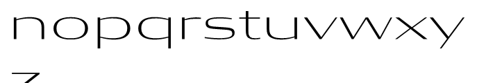 Condor Extended Extra Light Font LOWERCASE